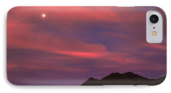 Moon And Sunrise Phone Case by Robert Bales