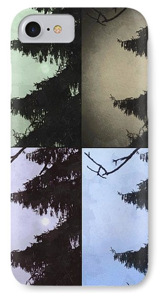 Moon And Tree IPhone Case by Photographic Arts And Design Studio