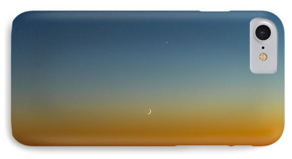 Moon And Venus I IPhone Case by Marco Oliveira