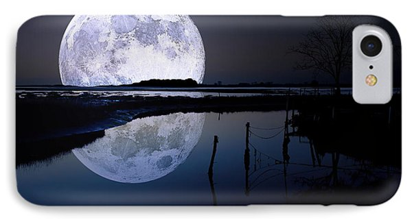 Moon At Night IPhone Case by Gianfranco Weiss