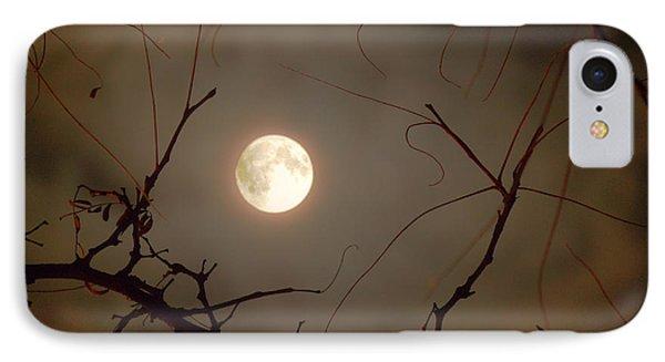 Moon Behind Branches Phone Case by Deborah Smolinske