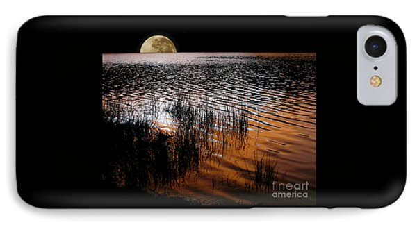 Moon Catching A Glimpse Of Sunset IPhone Case by Kaye Menner