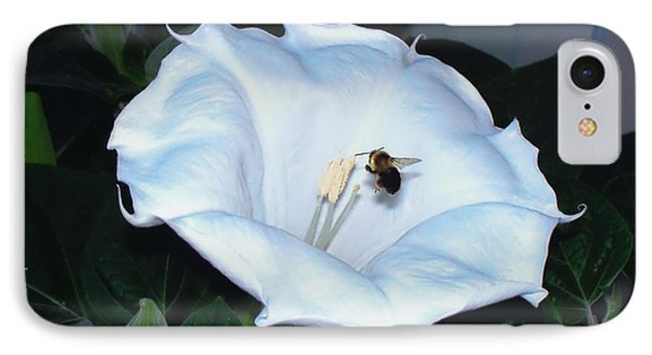 IPhone Case featuring the photograph Moon Flower by Thomas Woolworth