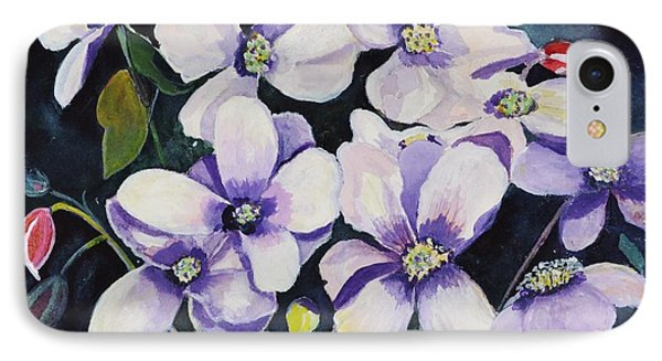 Moon Flowers IPhone Case