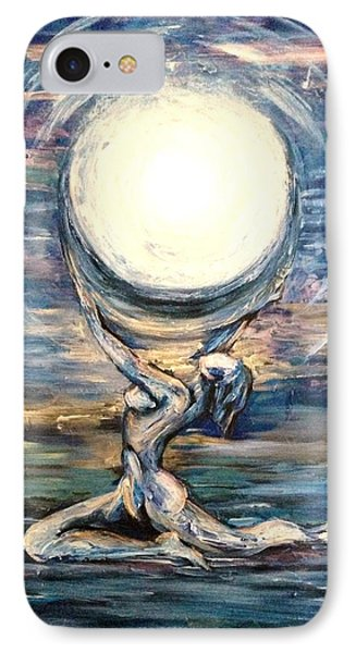 IPhone Case featuring the painting Moon Goddess by Karen  Ferrand Carroll