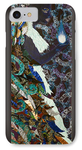 IPhone Case featuring the tapestry - textile Moon Guardian - The Keeper Of The Universe by Apanaki Temitayo M