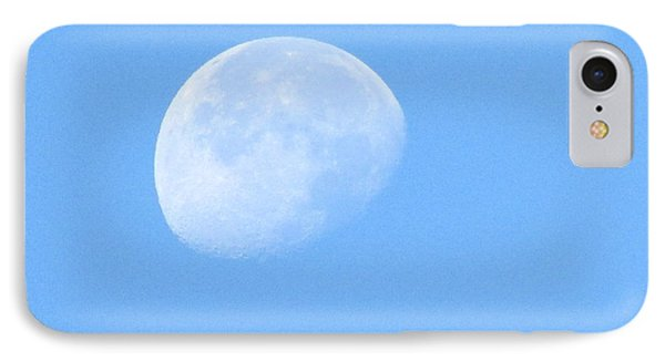 Moon In Daylight IPhone Case by Kathy Long