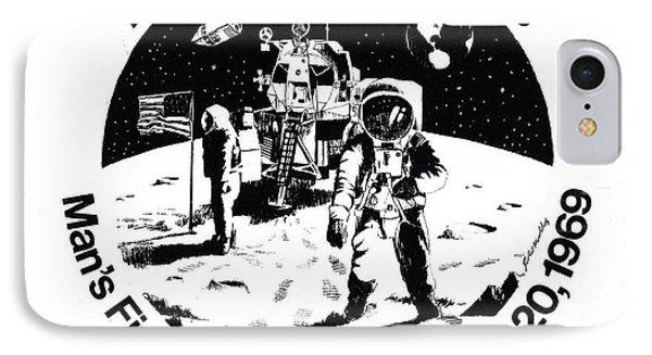 Moon Landing Phone Case by J W Kelly