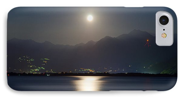 Moon Light Over A Lake Phone Case by Mats Silvan