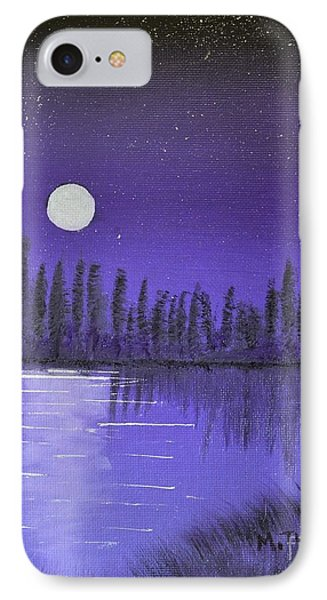 Moon Lit Bay IPhone Case by Melvin Turner