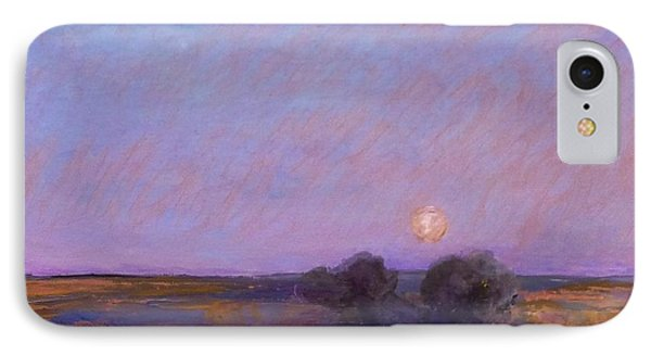 Moon On The Horizon IPhone Case by Helen Campbell