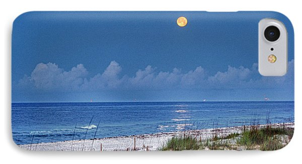 Moon Over Beach Phone Case by Michael Thomas