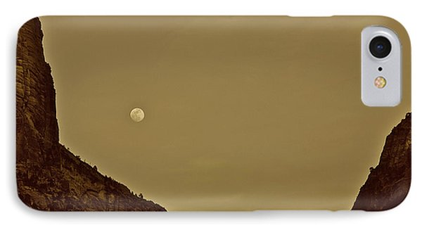 Moon Over Crag Utah IPhone Case