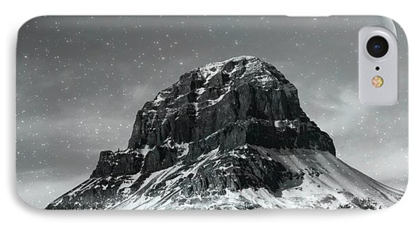 Moon Over Crowsnest IPhone Case by Alyce Taylor