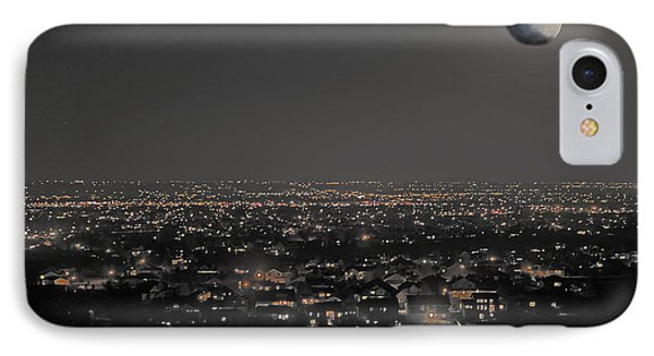 Moon Over Fort Collins IPhone Case by David Kehrli
