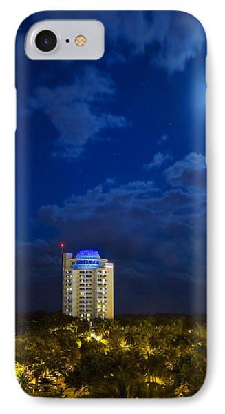 Moon Over Ft. Lauderdale IPhone Case by Mark Andrew Thomas