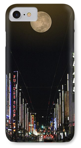 Moon Over Granville Street Phone Case by Ben and Raisa Gertsberg