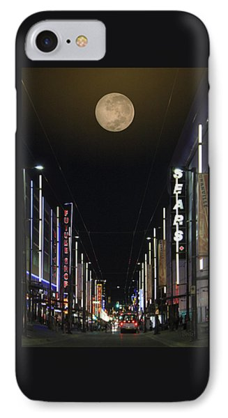 Moon Over Granville Street IPhone Case by Ben and Raisa Gertsberg