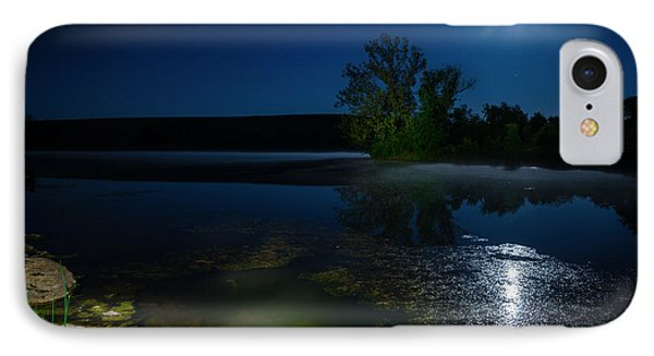 Moon Over Lake Phone Case by Alexey Stiop