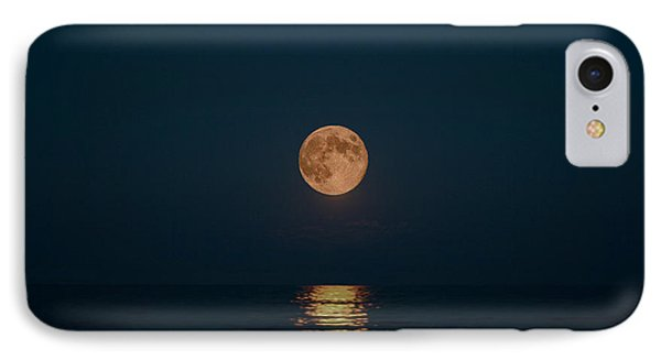 Moon Over Lake Of Shining Waters IPhone Case by Barbara McMahon