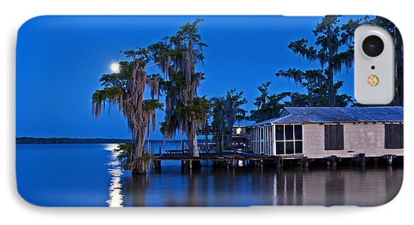 Moon Over Lake Verret IPhone Case