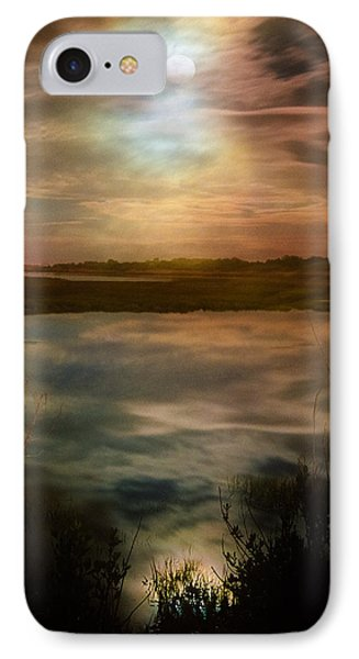 Moon Over Marsh - 35mm Film Phone Case by Gary Heller
