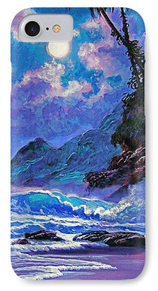Moon Over Maui Phone Case by David Lloyd Glover