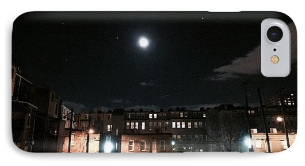 Moon Over Midtown IPhone Case by Toni Martsoukos