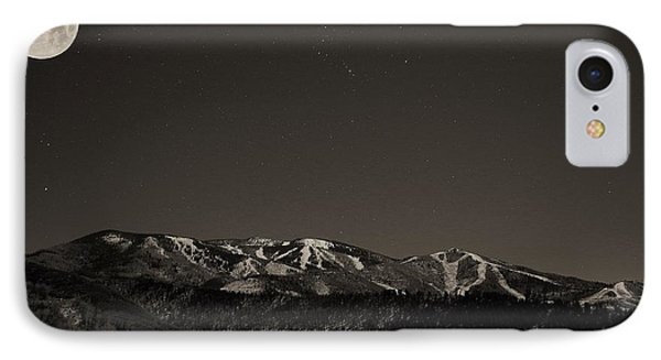 Moon Over Mt. Werner IPhone Case