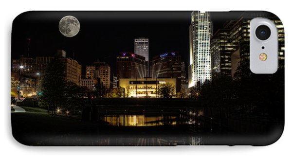 Moon Over Omaha IPhone Case by Jeff Swanson
