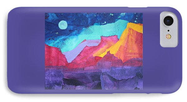 Moon Over Sedona IPhone Case by Nancy Jolley