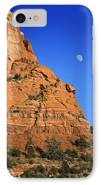 Moon Over Sedona IPhone Case