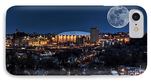 Moon Over The Carrier Dome IPhone Case by Everet Regal