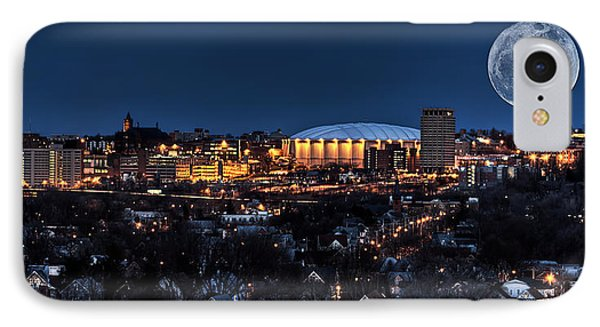 Moon Over The Carrier Dome IPhone 7 Case by Everet Regal