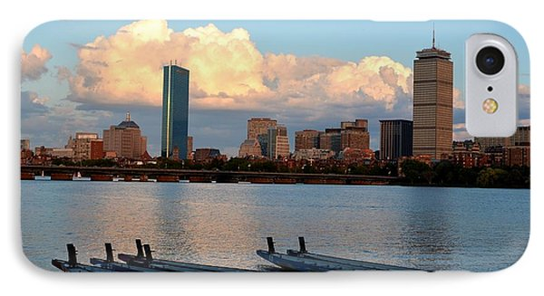 Moon Over The The Prudential On The Charles River IPhone Case by Toby McGuire