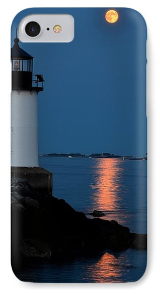 Moon Over Winter Island Salem Ma IPhone Case by Toby McGuire