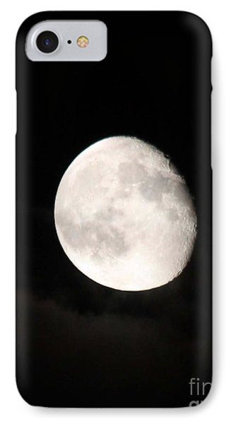 Moon Photographed In Black And White Phone Case by John Telfer