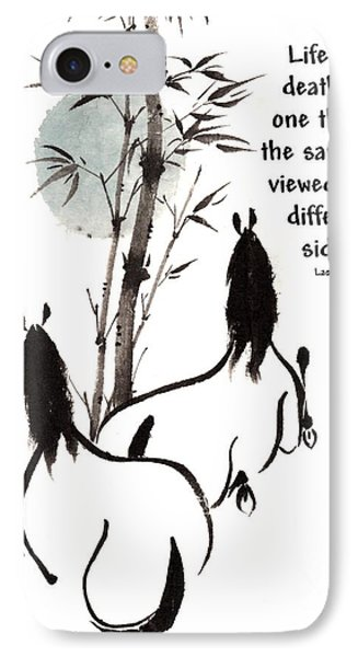 IPhone Case featuring the painting Moon Reverence With Lao Tzu Quote I by Bill Searle