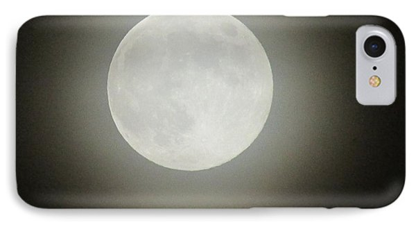 Moon Ring IPhone Case by Kathy Long