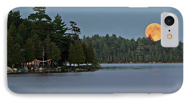 IPhone Case featuring the photograph Moon Rise At The Lake by Barbara West