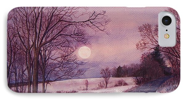 IPhone Case featuring the painting Moon Rising by Joy Nichols