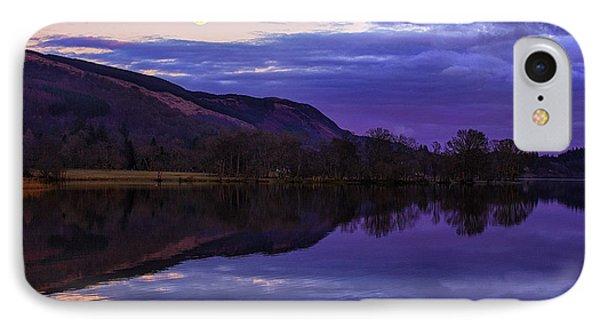Moon Rising Over Loch Ard Phone Case by John Farnan