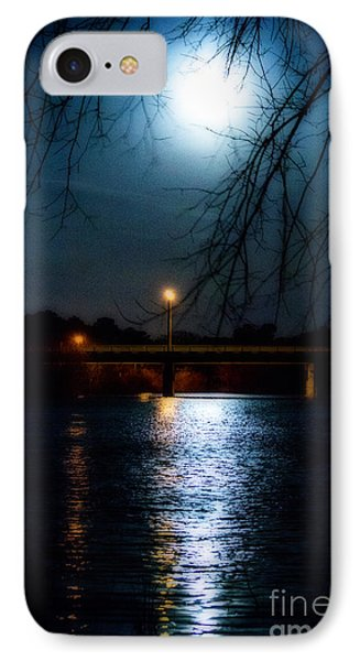 IPhone Case featuring the photograph Moon Set Lake Pleasurehouse by Angela DeFrias