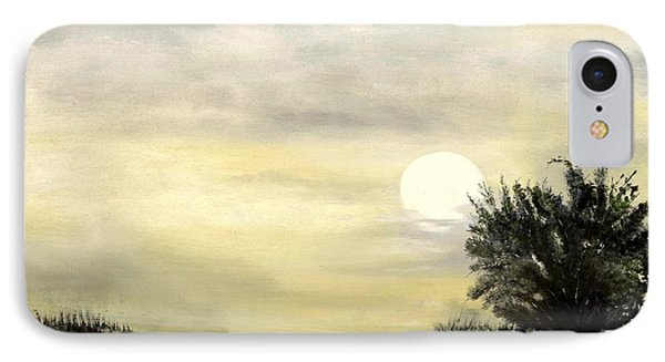 IPhone Case featuring the painting Moon Shadow by Carol Sweetwood