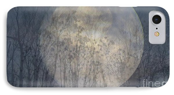 Moon Shadow IPhone Case by France Laliberte
