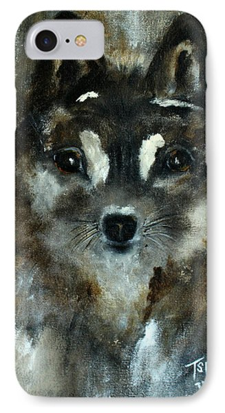 IPhone Case featuring the painting Moon Shadow The Baby Fox by Barbie Batson