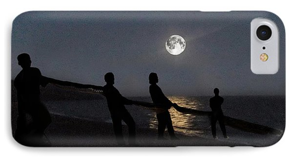 IPhone Case featuring the digital art Moon Shadows  by Eric Kempson
