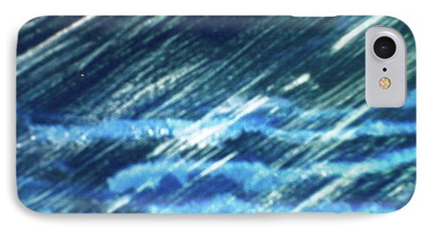 IPhone Case featuring the painting Moon Shining Through Rain by Pamela  Meredith