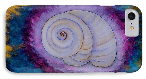 IPhone Case featuring the painting Moon Snail by Deborha Kerr
