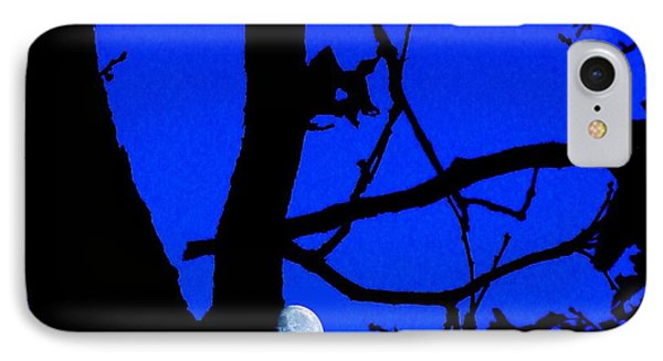 IPhone Case featuring the photograph Moon Through Trees 2 by Janette Boyd